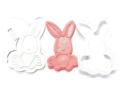 Raised Fondant Embosser and Cutter- Bunny