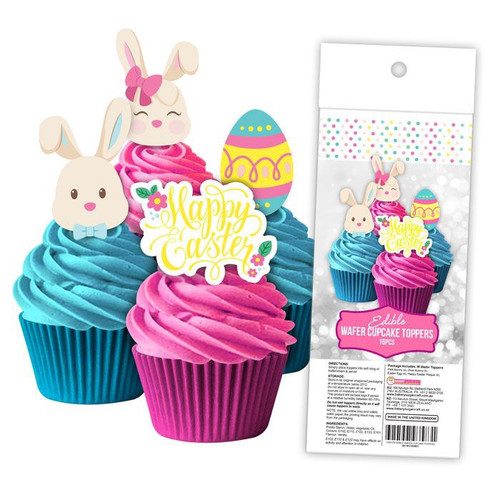 Edible Wafer Toppers - Happy Easter 16PC