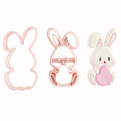 Bunny With Egg Cookie Cutter and Embosser
