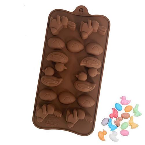 Silicone Chocolate Mold -MINI EGG/BUNNY RABBIT/DUCK