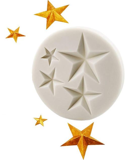 Stars 4 Cavity Silicone Mold