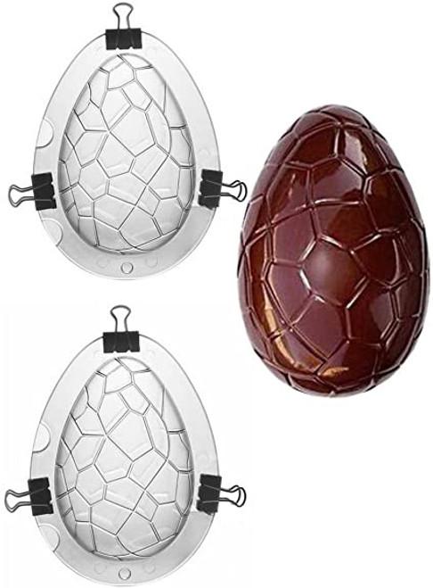 Medium Creaked Easter Egg Plastic 2pc Mold