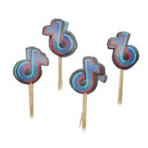 Cupcake Toppers 24pc - Tiktok