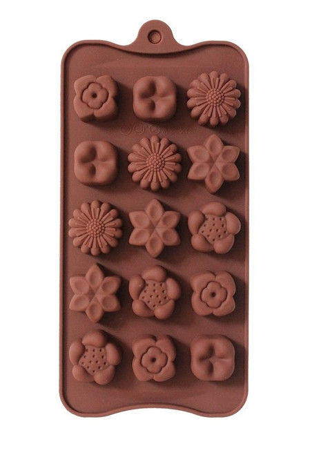 Assorted Flowers 15 Cavity Chocolate Mold