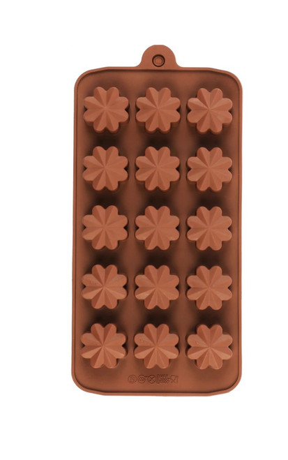 Fantasy Flower 15 Cavity Chocolate Mold