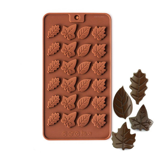 Leaves 24 Cavity Chocolate Mold