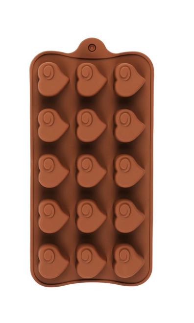 Heart with Swirl 15 Cavity Chocolate Mold