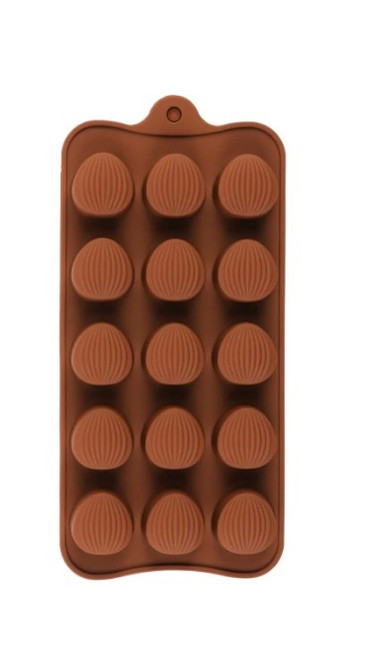 Almond Textured 15 Cavity Chocolate Mold