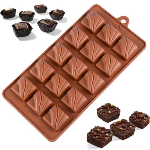 Textured Square Truffle 15 Cavity Chocolate Mold