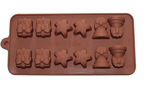 Christmas Bells ,Star& Present Chocolate Mold