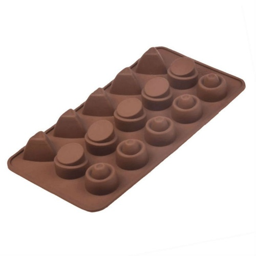 Geometric Shapes 15 Cavity Chocolate Mold