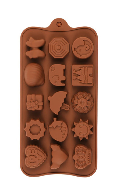 Random Assorted 15 Cavity Chocolate Mold