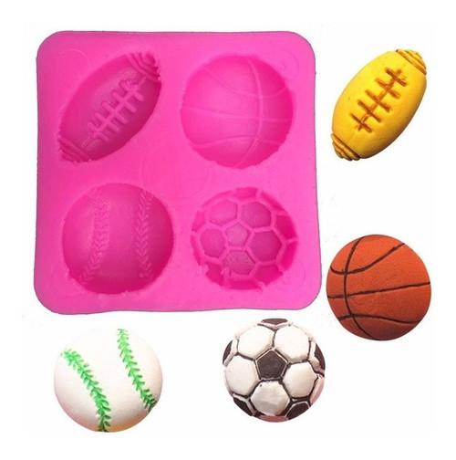 Sports balls 4 Cavity Silicone Mold