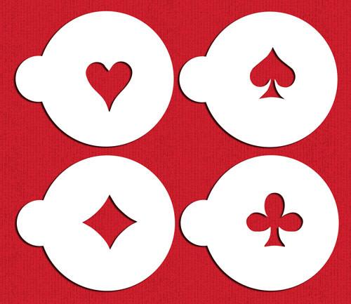 Spades, Diamonds, Clubs & Hearts C235 Stencil