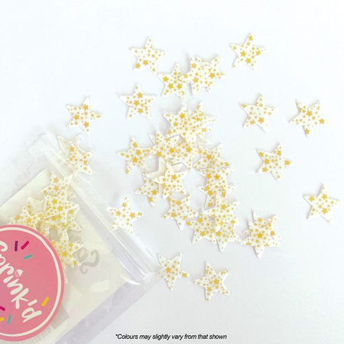 Gold Stars Wafer Sprinkle 2g