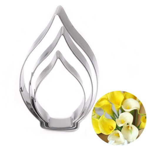 Calla Lily Flower 3pc Tin Plate Cutter
