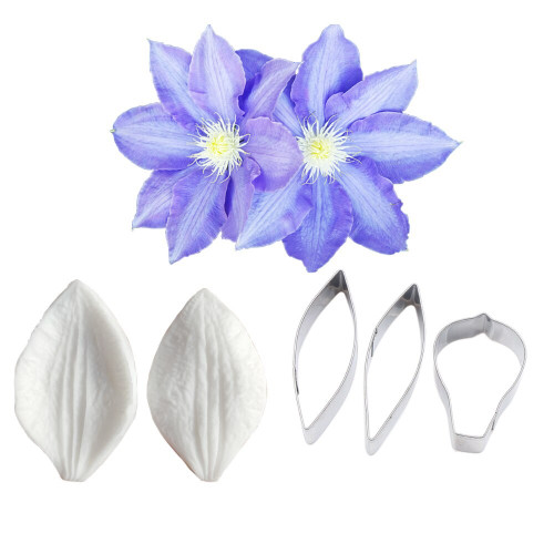 Clematis Petal Veiner and cutter 5pc Set