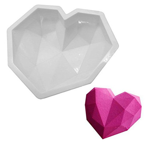 Silicone Mold - Polygonal Heart(Style1)