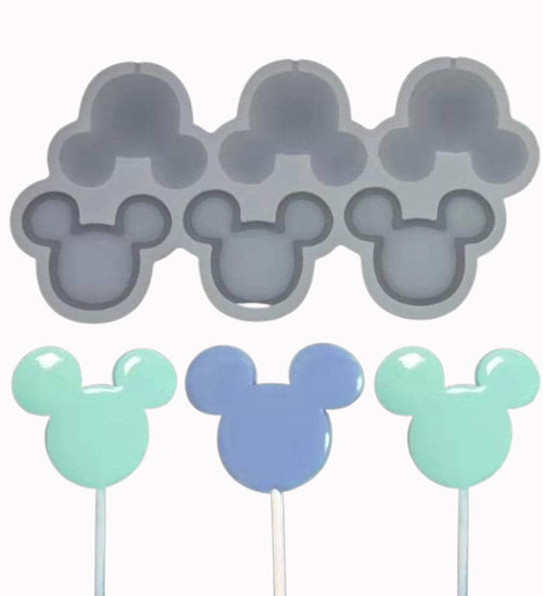 Minnie/Micky Lollipop/Candy 6Cavity Silicone Mold