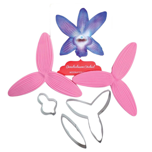 Dendrobium Orchid Cutter and Veiner Set