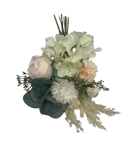Hydrangea and Peony Bouquet-Peach