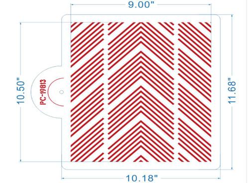 DASH Cake Stencil Measurements