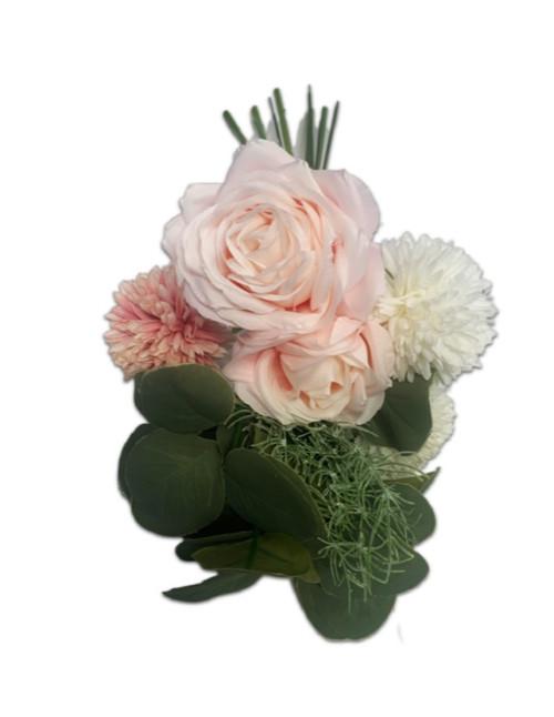 Chrysanthemum and Rose Bouquet-Peach