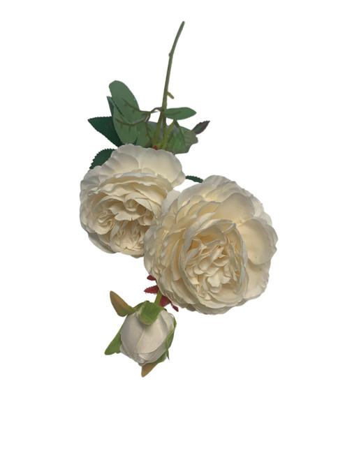 Silk Rose Spray -White