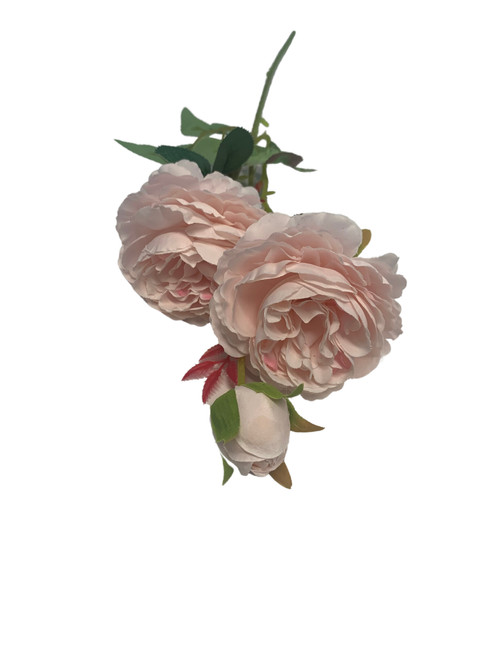 Silk Rose Spray -Baby Pink