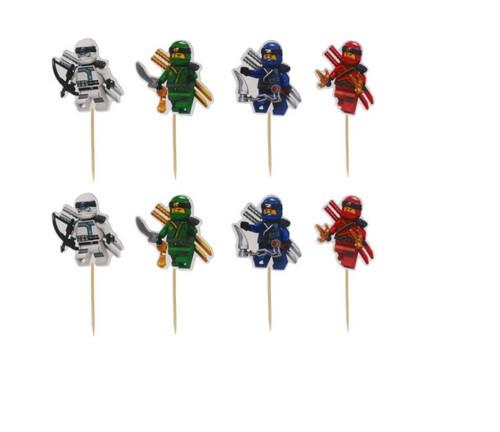 Lego Ninjago 24pc Cupcake Topper