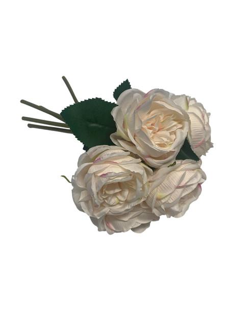 Cabbage Rose Bouquet-Cream