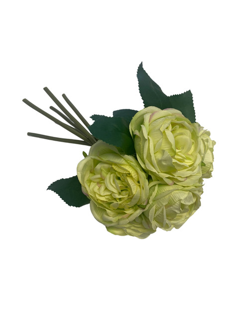 Cabbage Rose Bouquet-Lime Green