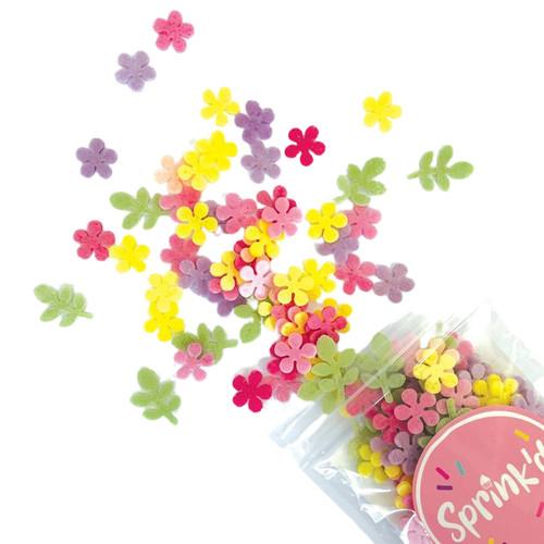 Mini Daisy Flower Wafer Sprinkles