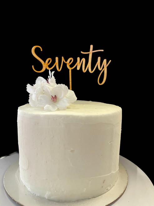 Cake Topper SEVENTY - BAMBOO