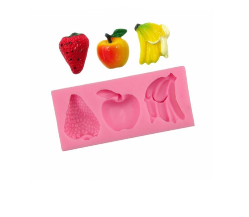 Fruits 3 Cavity Silicone Mold