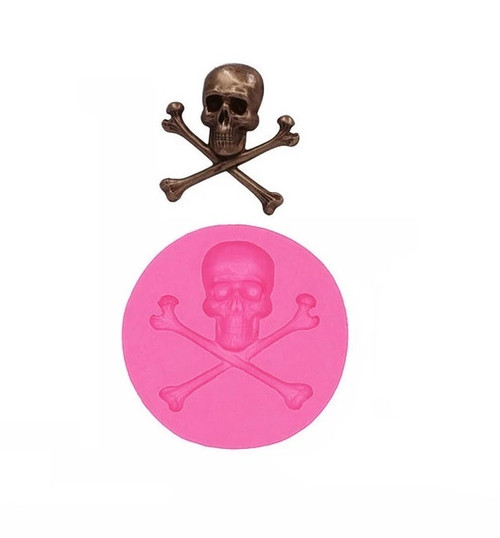 Skull Cross Bones Silicone Mold