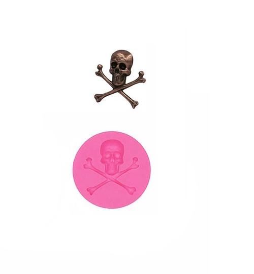 Small Skull Cross Bones Silicone Mold