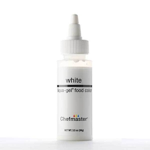 Chefmaster Liqua-Gel Food Color Liquid Whitener/White 3.5 oz Bottle