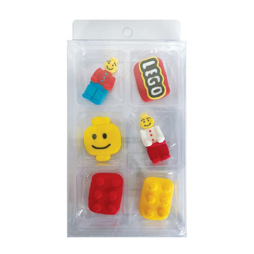 Sugar Decorations- Lego (6 piece)