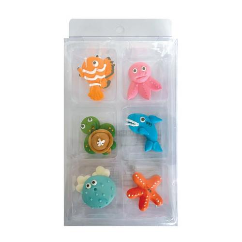Sugar Decorations- Sea Animals (6 piece)