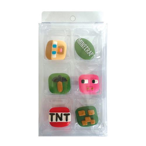 Sugar Decorations- Minecraft (6 piece)