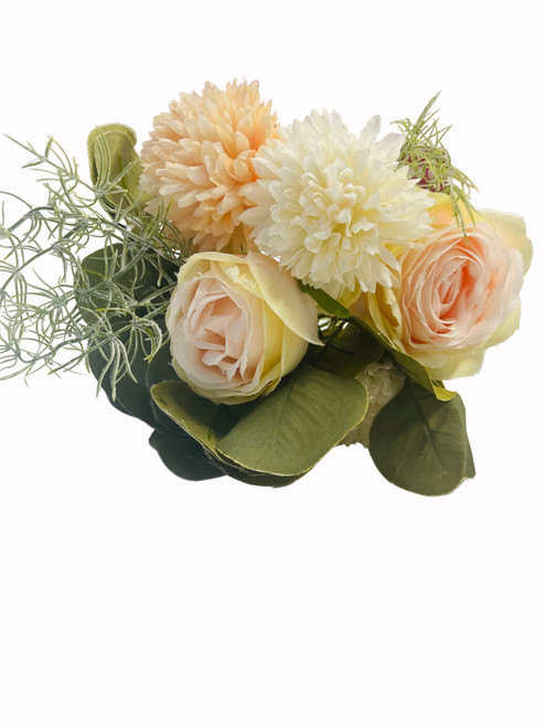 Chrysanthemum and Rose Bouquet-Apricot