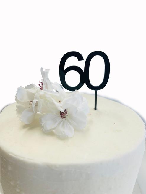 Cake Topper '60' 5cm - BLACK