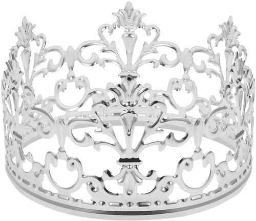 Crown Cake Topper-Silver
