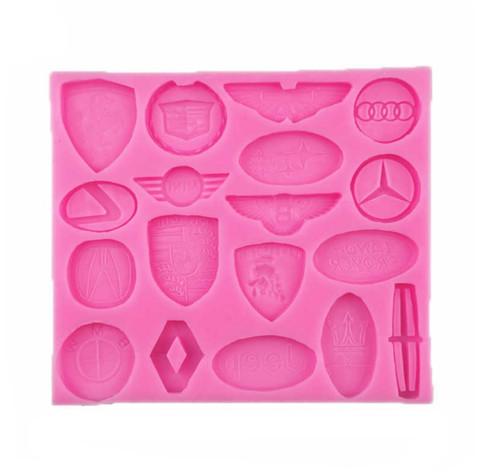Silicone Mold 18 Cavity- Car Logos(Style1)