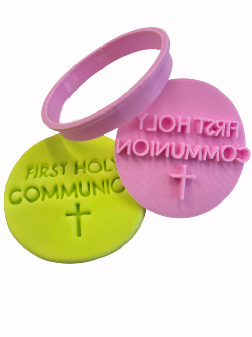 First Holy Communion Cookie Cutter and Embosser