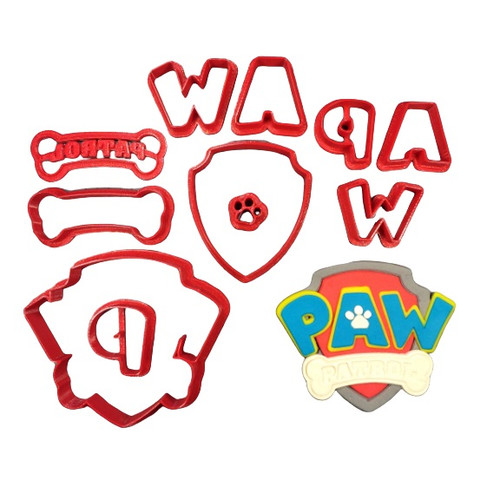 Paw Patrol Large 10pc Cookie Cutter and Embosser