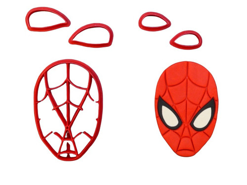 Spider man Face Cookie Cutter and Embosser