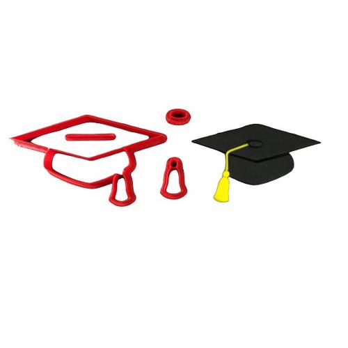 Graduation Hat 4pc Cookie Cutter