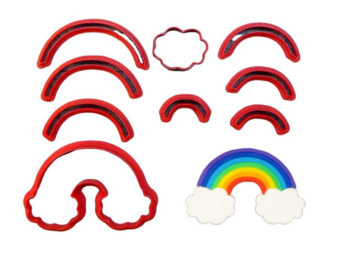 Rainbow and Cloud 9pc Cookie Cutter